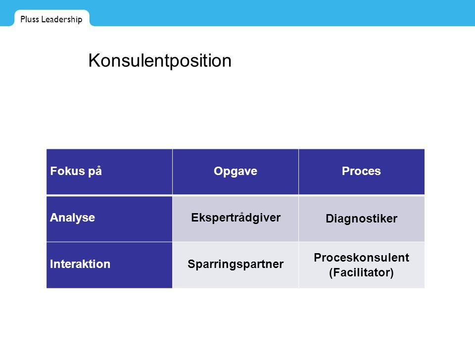Proceskonsulent (Facilitator)