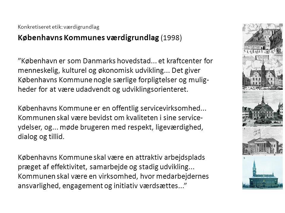 Københavns Kommunes værdigrundlag (1998)