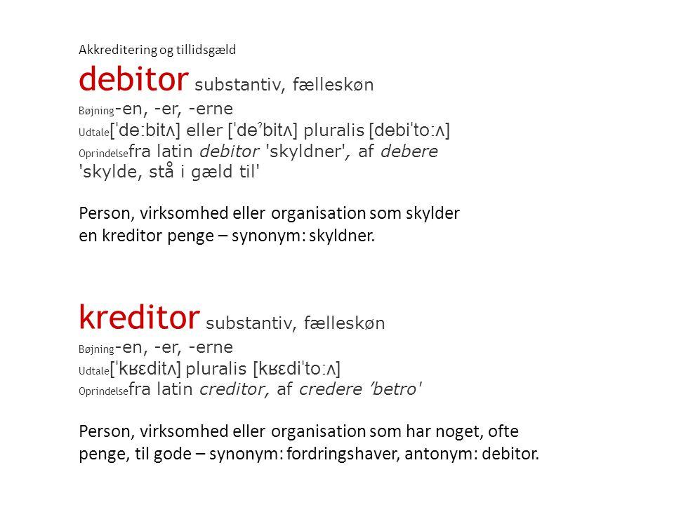 debitor substantiv, fælleskøn