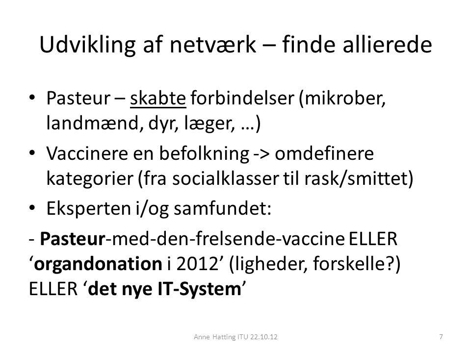 Udvikling af netværk – finde allierede