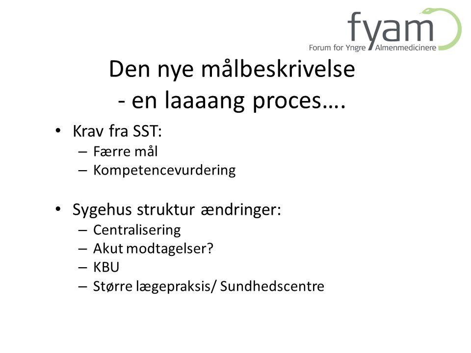 Den nye målbeskrivelse - en laaaang proces….