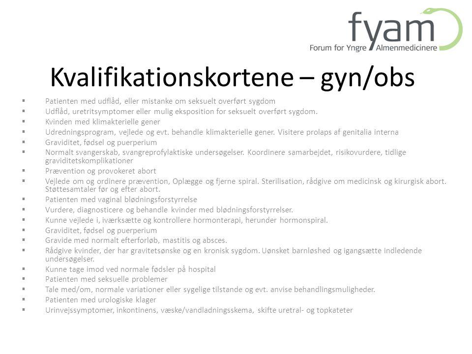 Kvalifikationskortene – gyn/obs