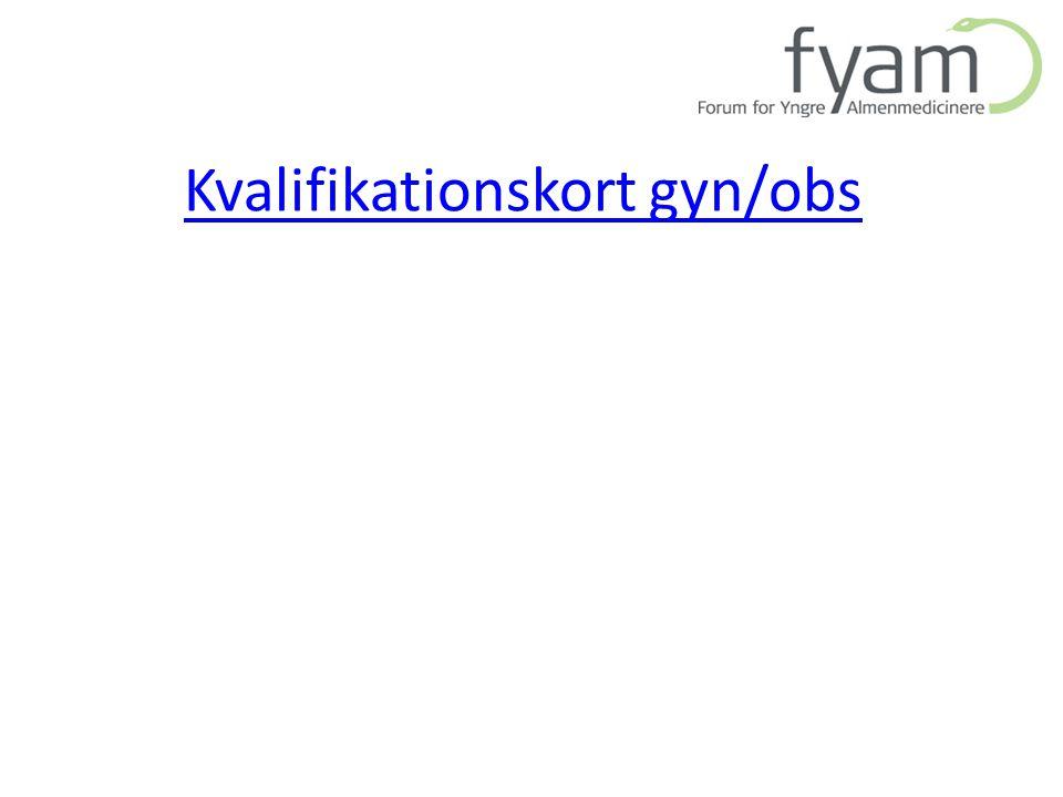 Kvalifikationskort gyn/obs