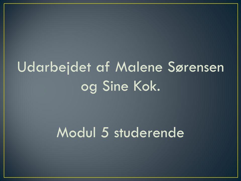 Udarbejdet af Malene Sørensen og Sine Kok. Modul 5 studerende