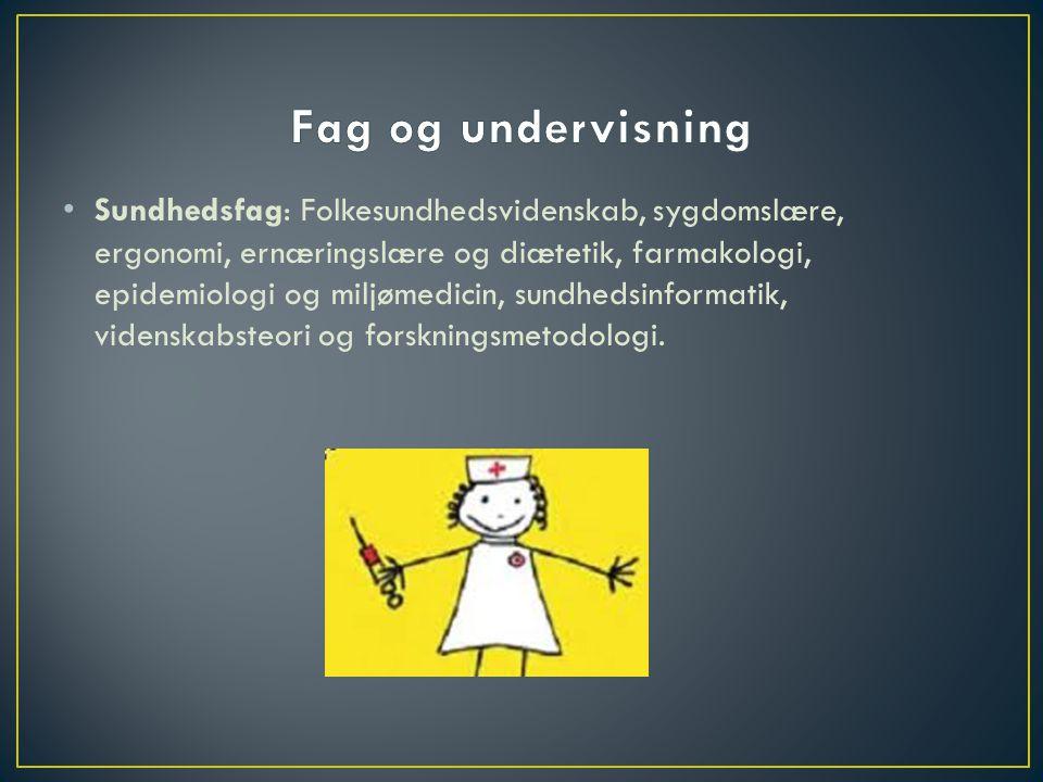 Fag og undervisning
