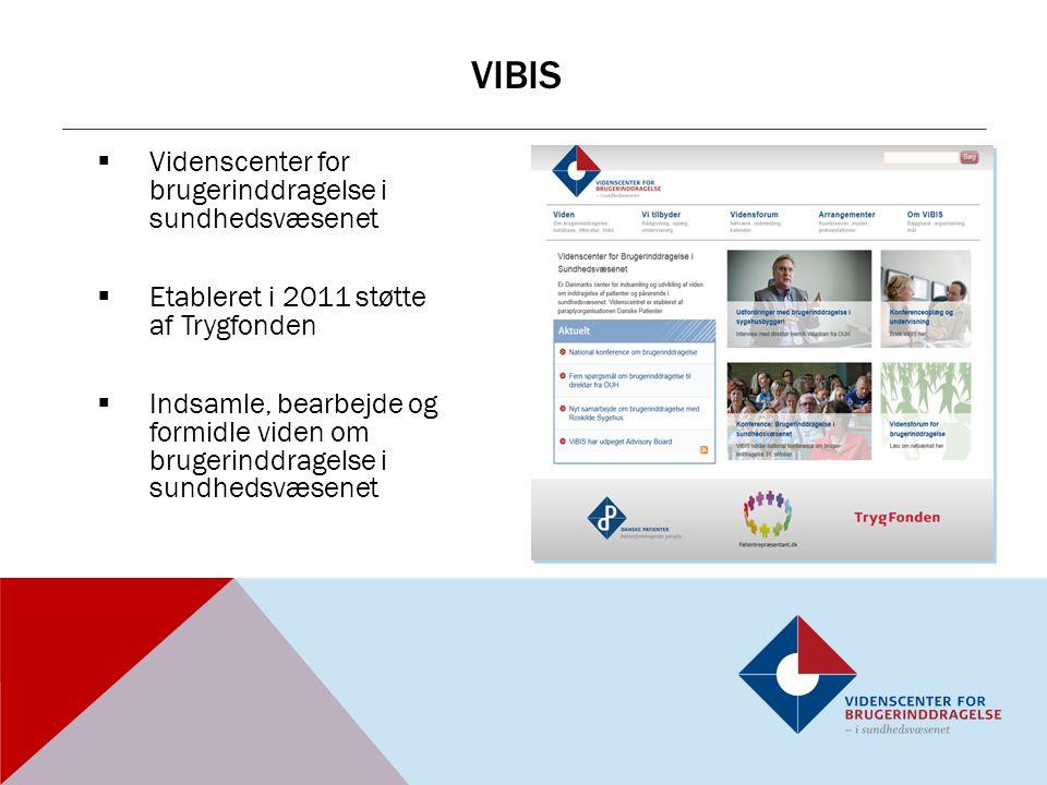 vibis Videnscenter for brugerinddragelse i sundhedsvæsenet