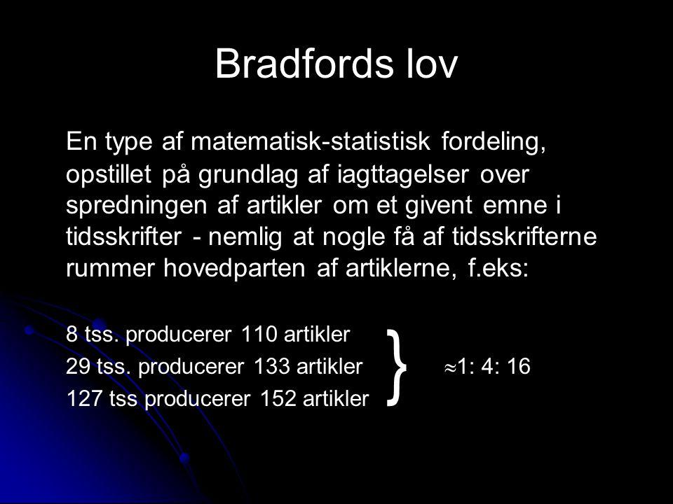 Bradfords lov