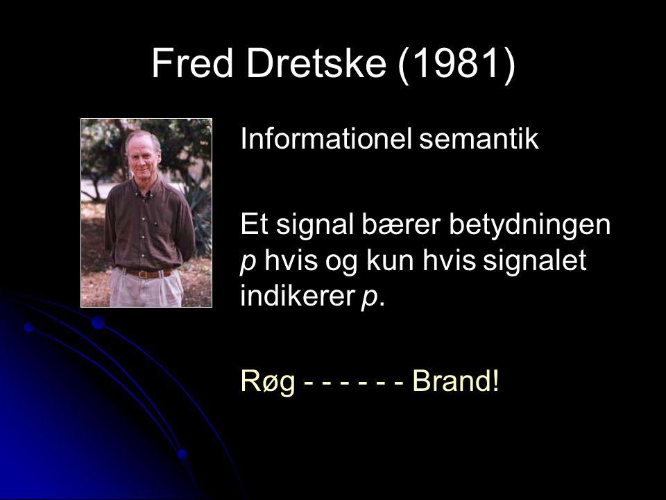 Fred Dretske (1981) Informationel semantik