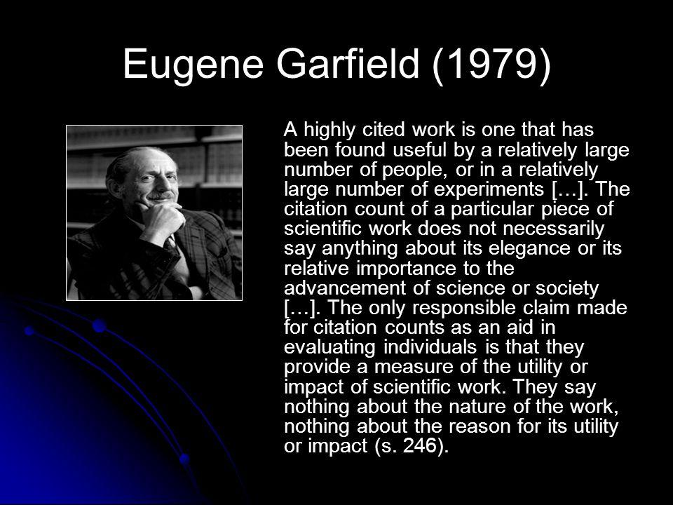 Eugene Garfield (1979)