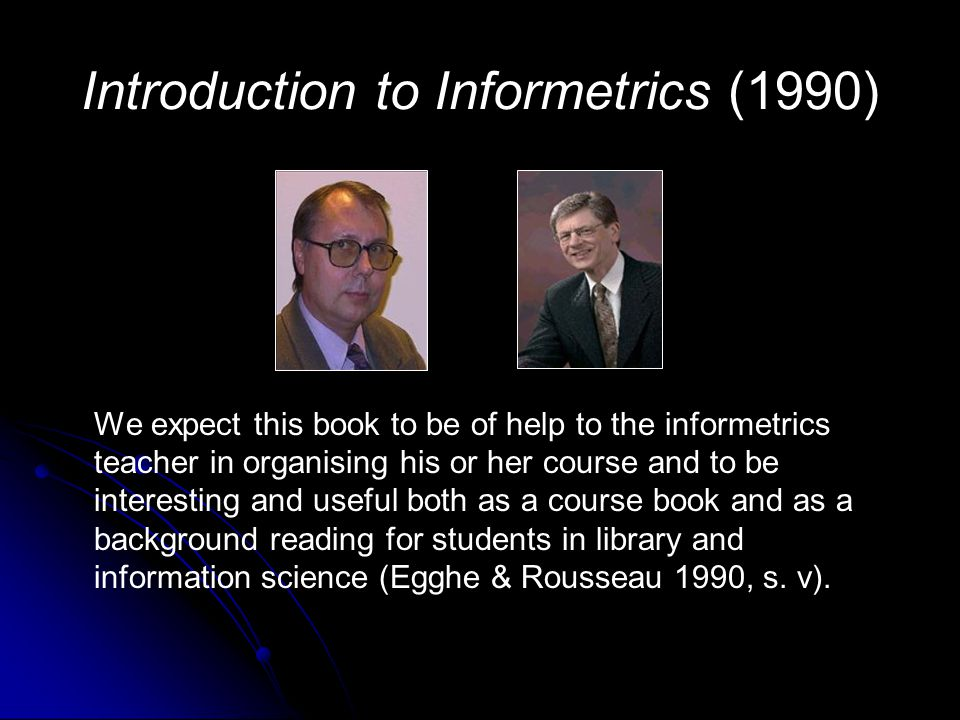 Introduction to Informetrics (1990)