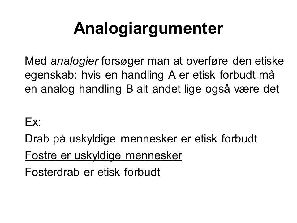 Analogiargumenter