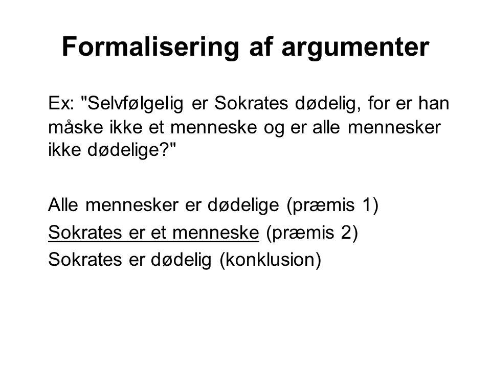 Formalisering af argumenter