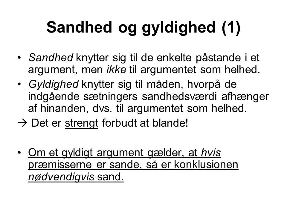 Sandhed og gyldighed (1)