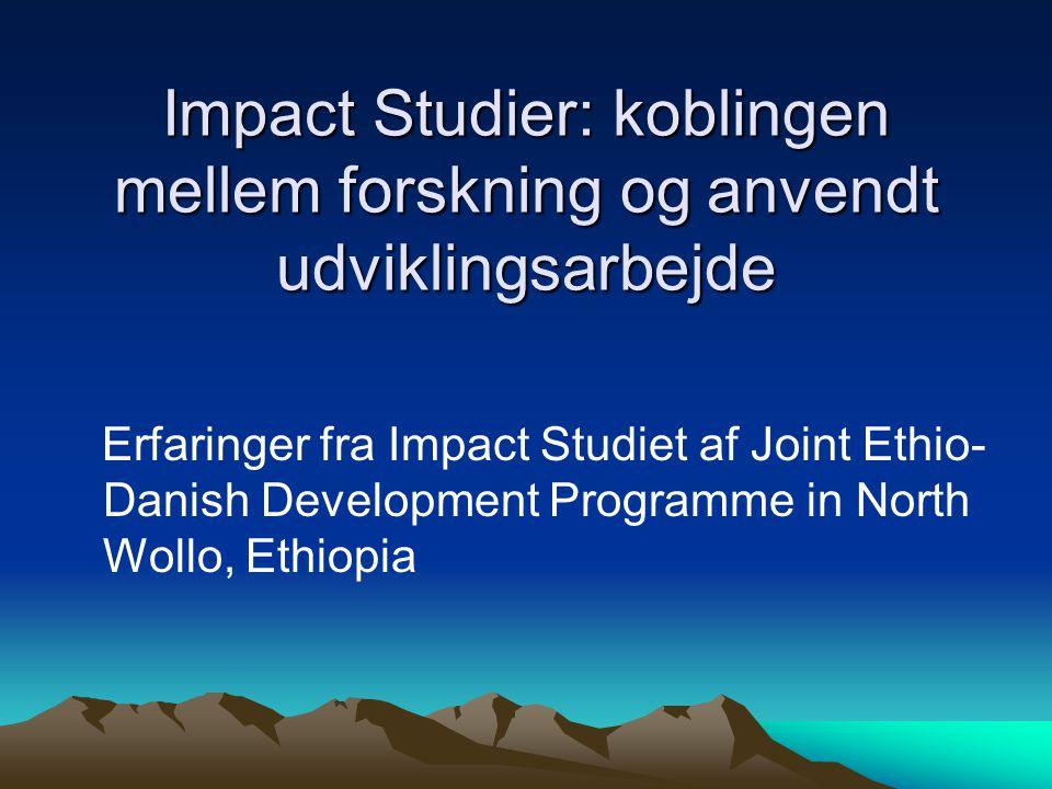 Impact Studier: koblingen mellem forskning og anvendt udviklingsarbejde