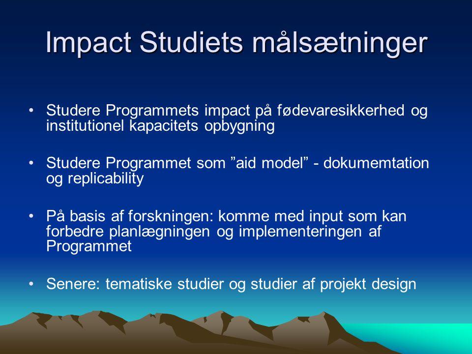 Impact Studiets målsætninger