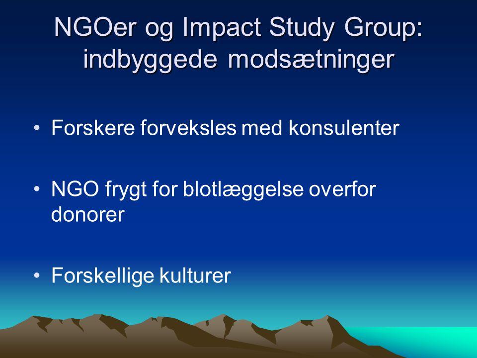 NGOer og Impact Study Group: indbyggede modsætninger