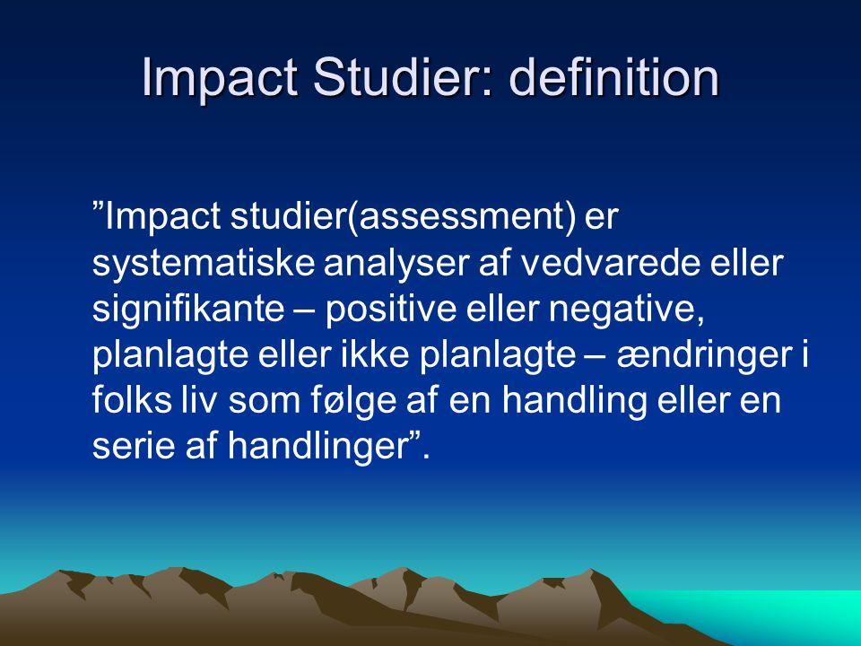 Impact Studier: definition