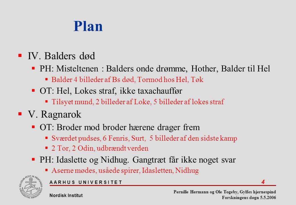 Plan IV. Balders død V. Ragnarok