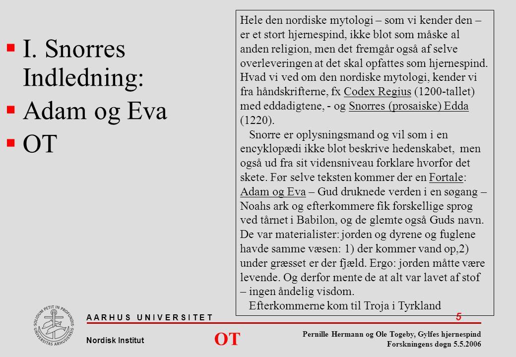 I. Snorres Indledning: Adam og Eva OT OT