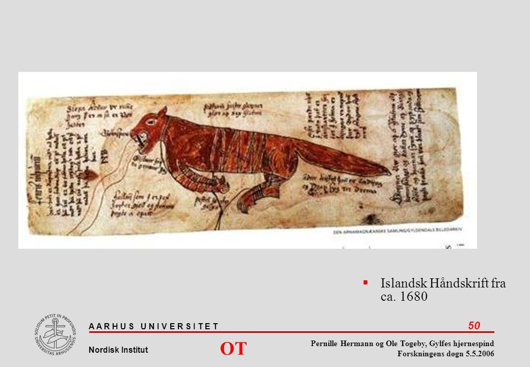 Islandsk Håndskrift fra ca. 1680