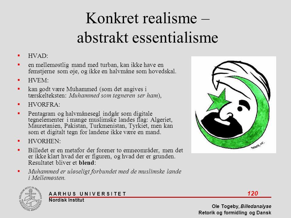 Konkret realisme – abstrakt essentialisme