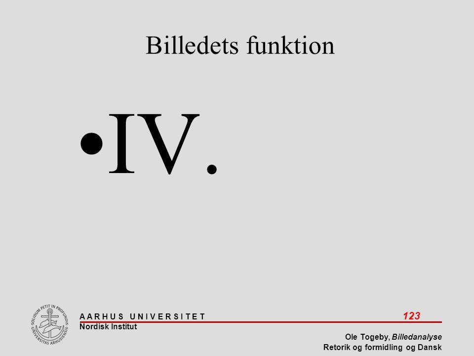 Billedets funktion IV.