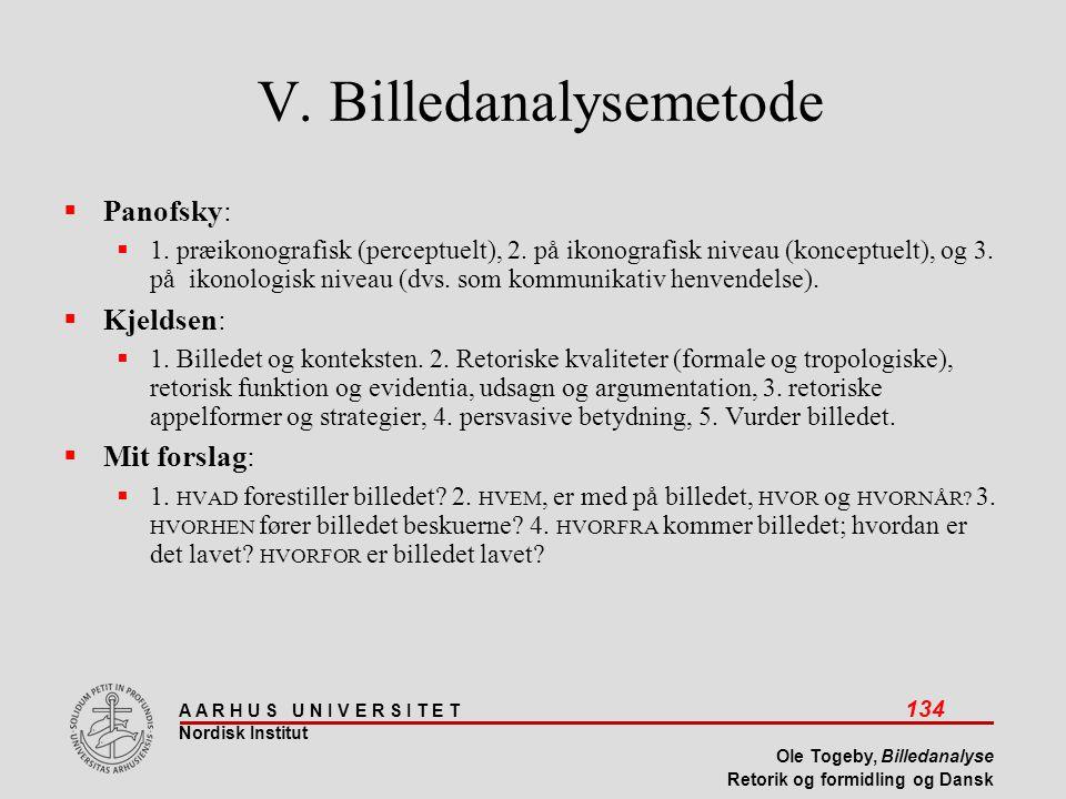 V. Billedanalysemetode