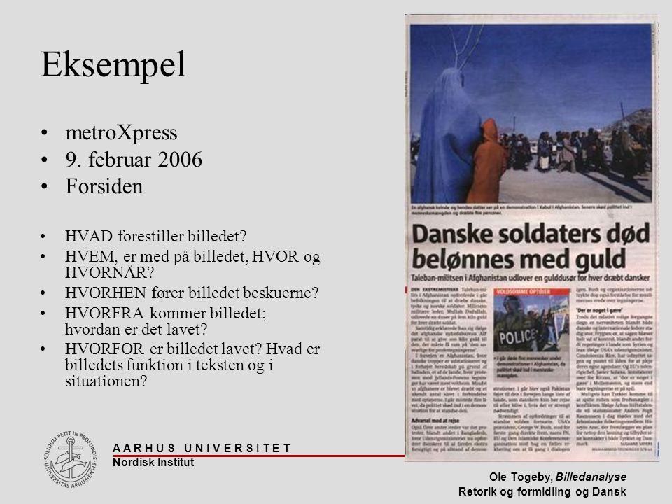 Eksempel metroXpress 9. februar 2006 Forsiden