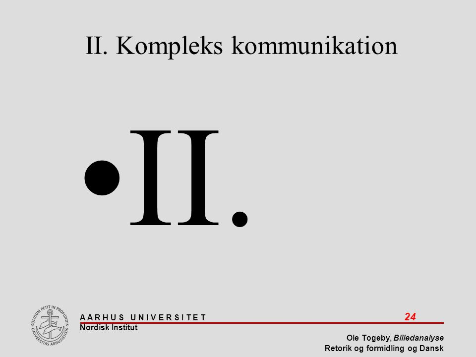 II. Kompleks kommunikation