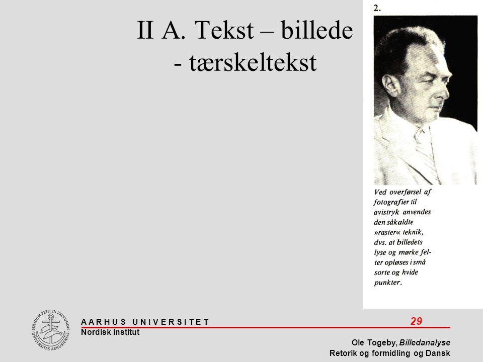 II A. Tekst – billede - tærskeltekst