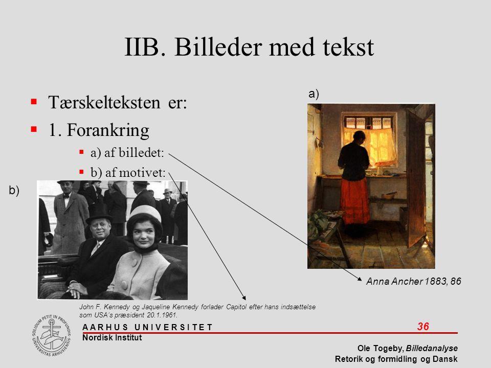 IIB. Billeder med tekst Tærskelteksten er: 1. Forankring
