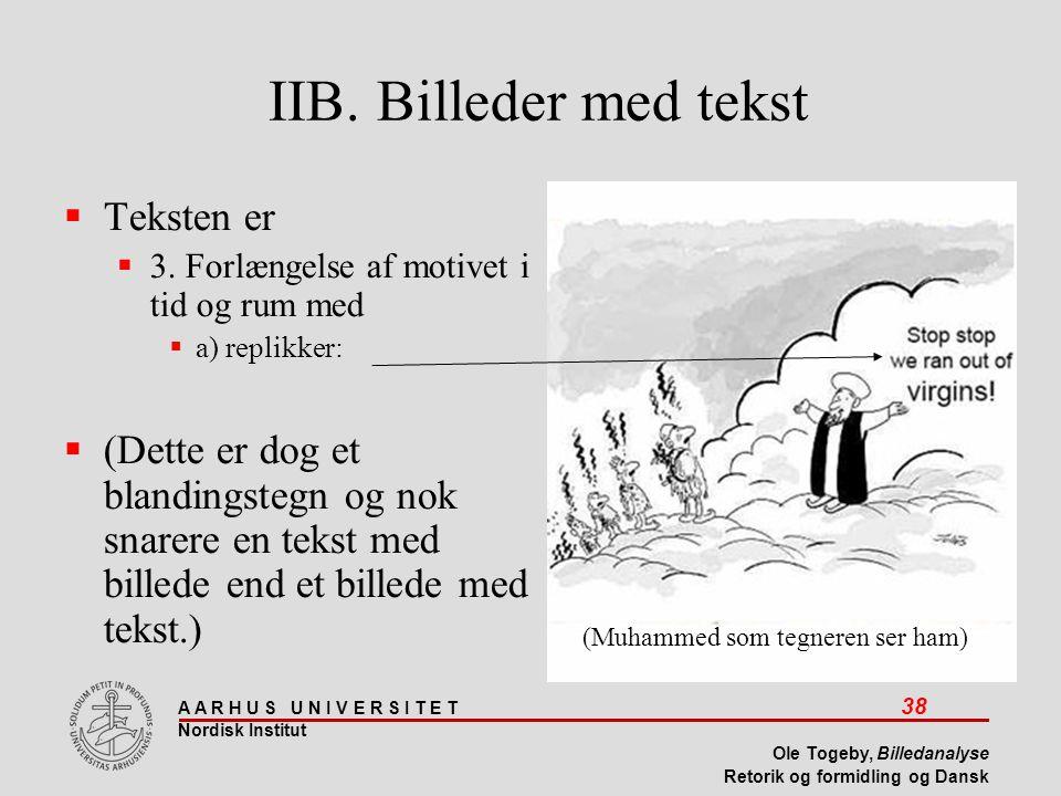 IIB. Billeder med tekst Teksten er