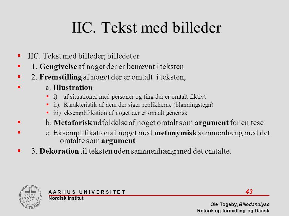 IIC. Tekst med billeder IIC. Tekst med billeder; billedet er