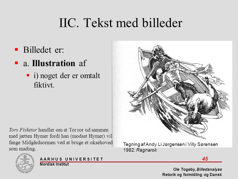 IIC. Tekst med billeder Billedet er: a. Illustration af