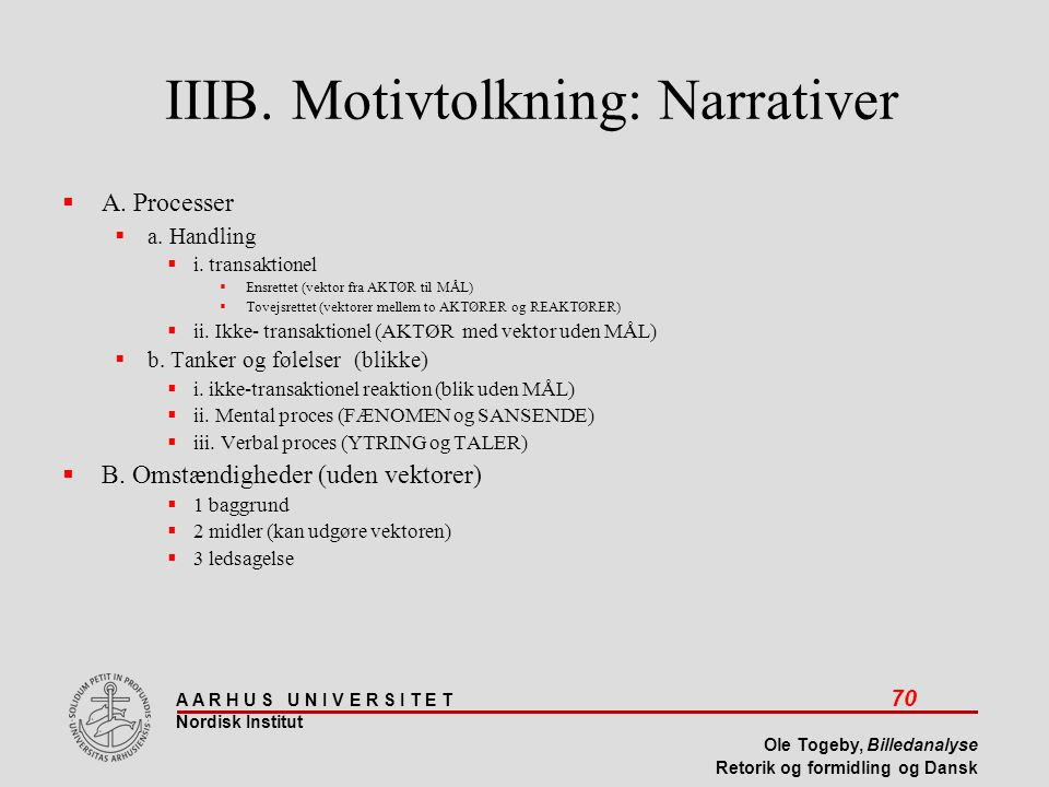 IIIB. Motivtolkning: Narrativer