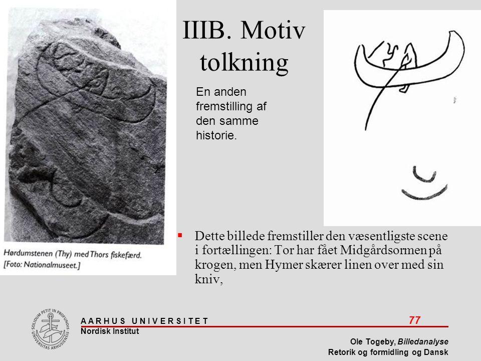 IIIB. Motiv tolkning En anden fremstilling af den samme historie.