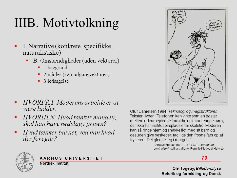 IIIB. Motivtolkning I. Narrative (konkrete, specifikke, naturalistiske) B. Omstændigheder (uden vektorer)