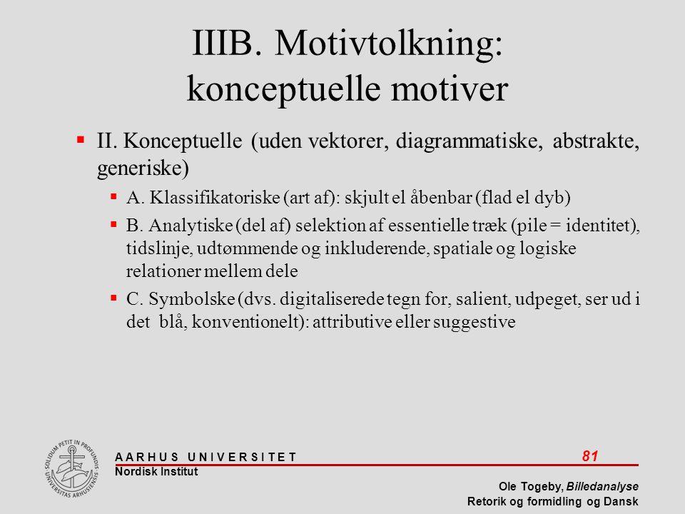IIIB. Motivtolkning: konceptuelle motiver