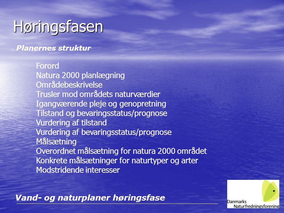 Høringsfasen Forord Natura 2000 planlægning Områdebeskrivelse