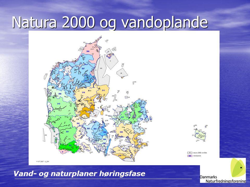 Natura 2000 og vandoplande Vand- og naturplaner høringsfase