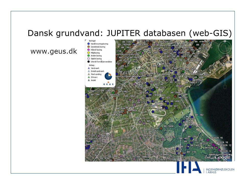 Dansk grundvand: JUPITER databasen (web-GIS)