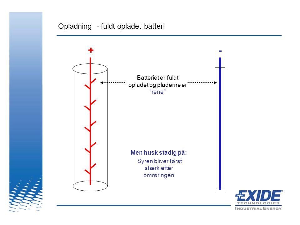Opladning - fuldt opladet batteri
