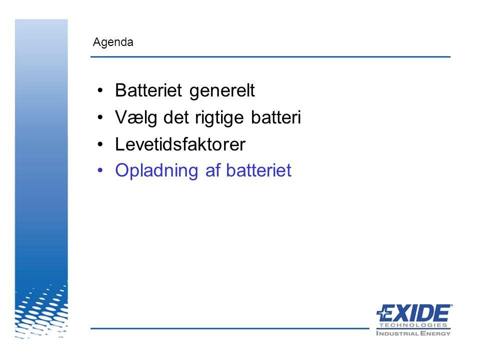 Vælg det rigtige batteri Levetidsfaktorer