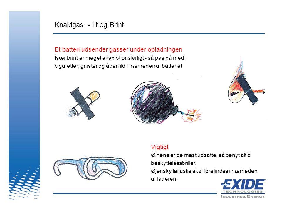 Knaldgas - Ilt og Brint Et batteri udsender gasser under opladningen