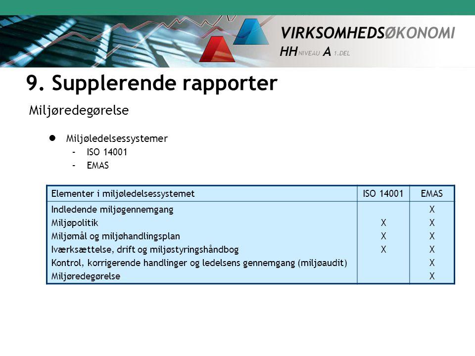 9. Supplerende rapporter