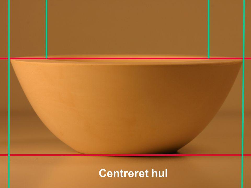 Centreret hul