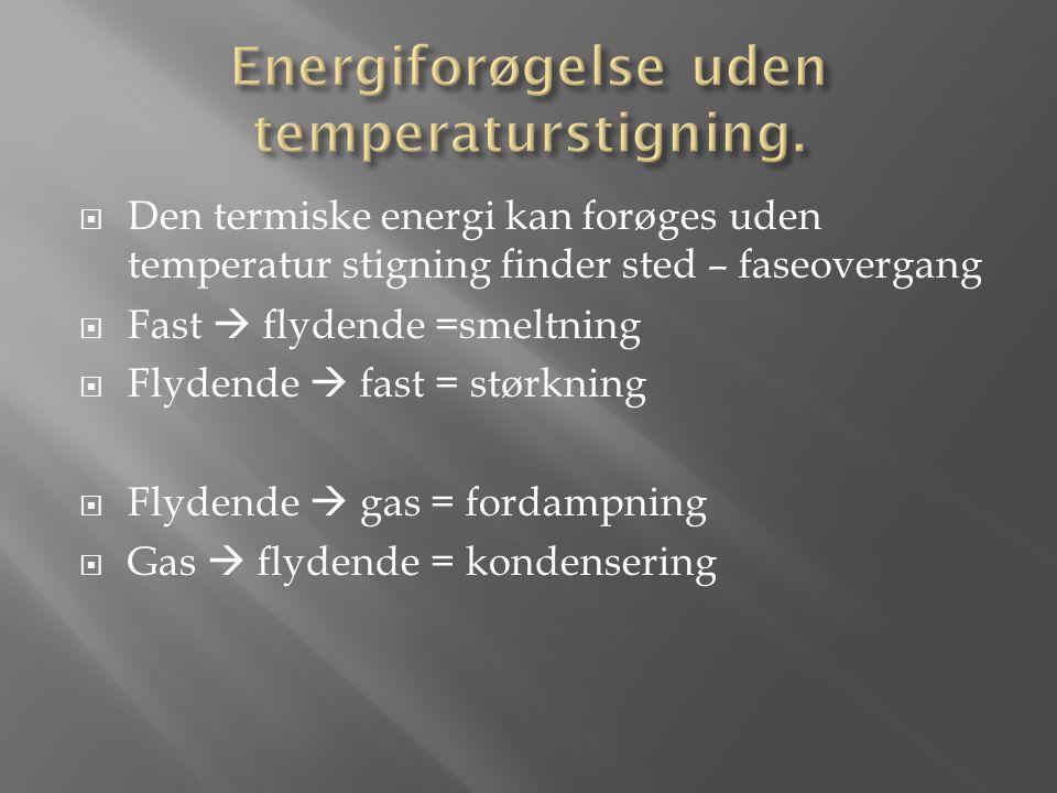 Energiforøgelse uden temperaturstigning.