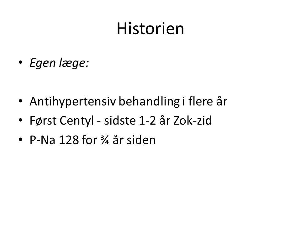 Historien Egen læge: Antihypertensiv behandling i flere år