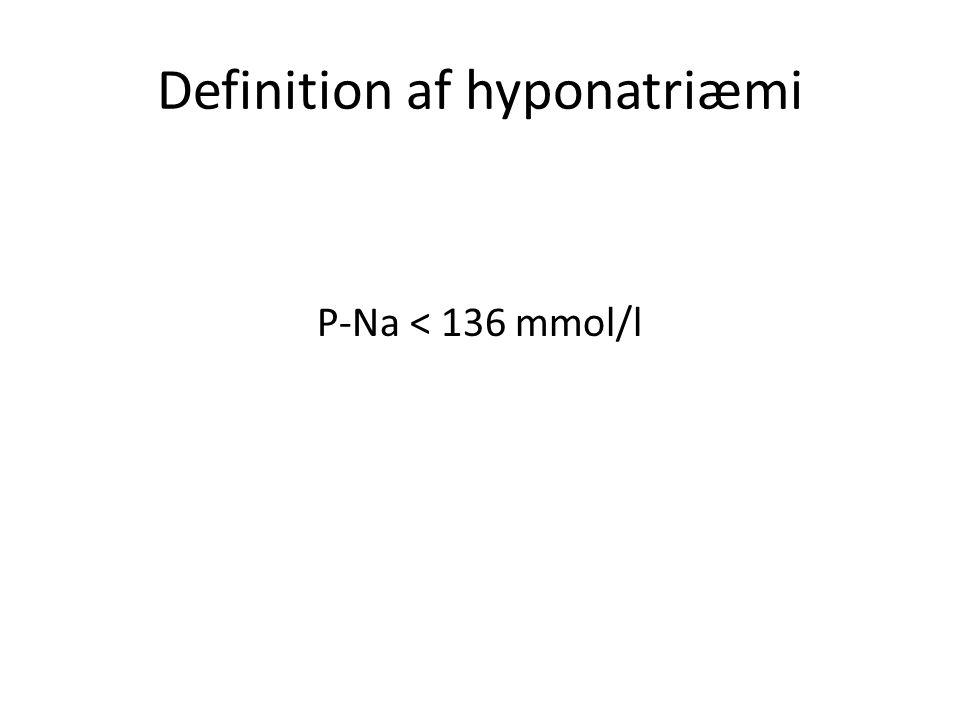 Definition af hyponatriæmi