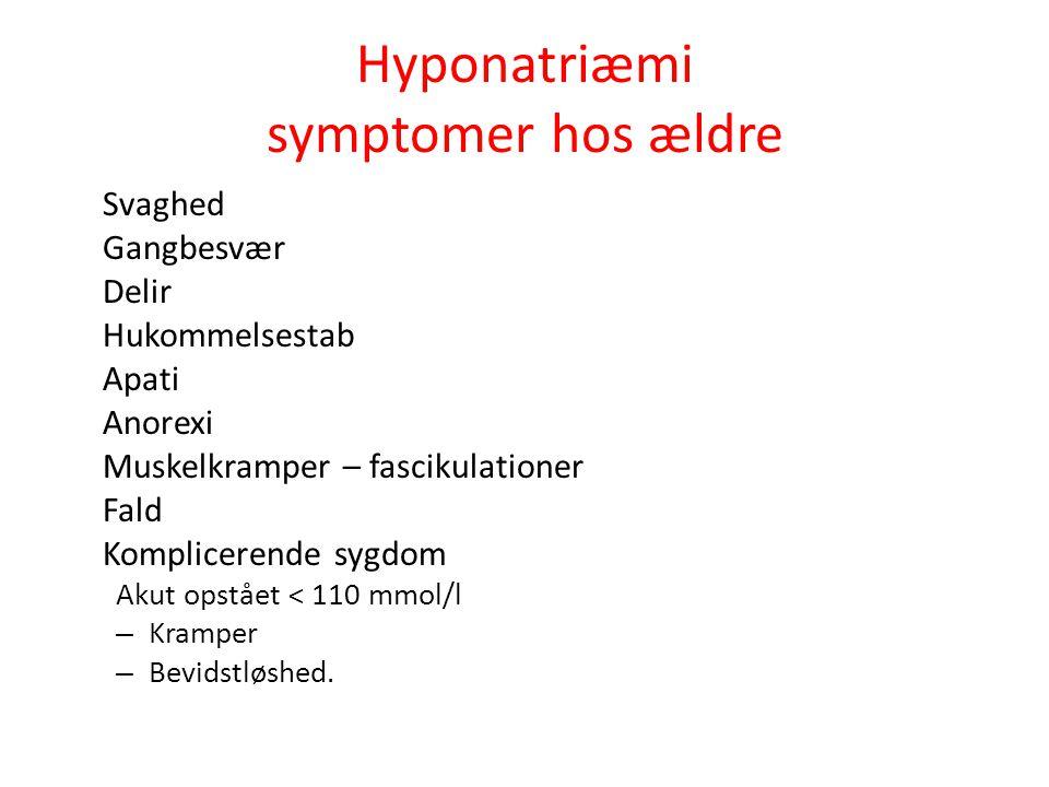 Hyponatriæmi symptomer hos ældre